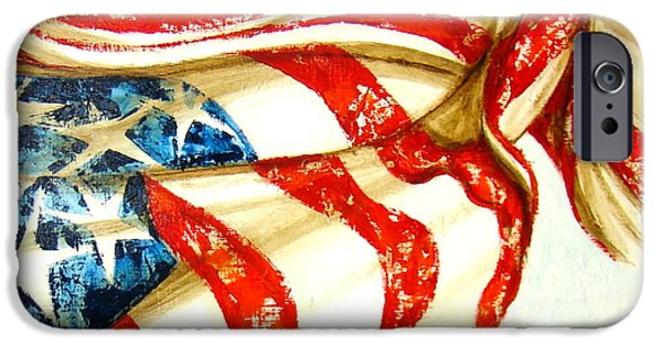 American Flag iPhone Cases - OBeautiful Series iPhone Case by Gigi Hackford