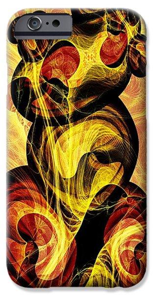 Flaming iPhone Cases - Obereg iPhone Case by Anastasiya Malakhova