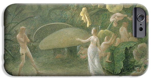 Fantasy Photographs iPhone Cases - Oberon And Titania, A Midsummer Nights Dream, Act Ii, Scene I, By William Shakespeare 1566-1616 iPhone Case by Francis Danby