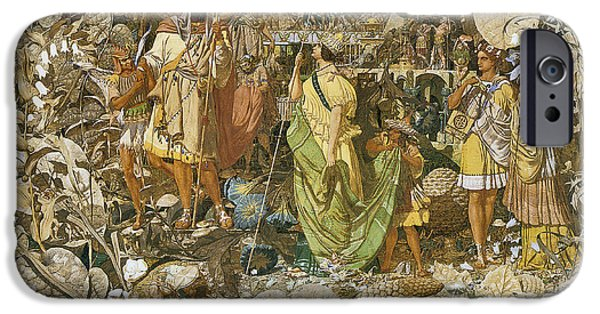 Supernatural Digital Art iPhone Cases - Oberon And Titania Circa 1850 iPhone Case by Richard Dadd