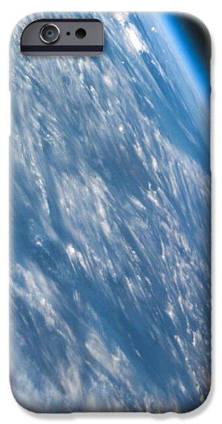 Oblique Shot of Earth iPhone Case by Adam Romanowicz