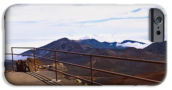 Observation iPhone Cases - Observation Point With Volcanic Crater iPhone Case by Panoramic Images