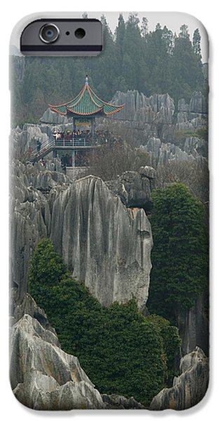 Observation iPhone Cases - Observation Tower On Limestone iPhone Case by Panoramic Images