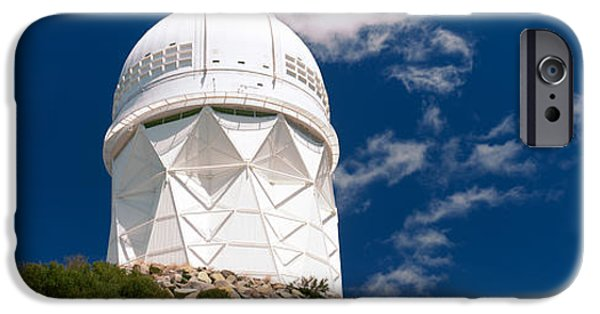 Technology iPhone Cases - Observatory On A Hill, Kitt Peak iPhone Case by Panoramic Images