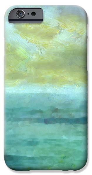 Abstract Seascape Mixed Media iPhone Cases - Ocean 10 iPhone Case by Angelina Vick