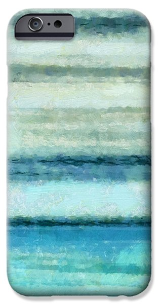 Abstract Seascape Mixed Media iPhone Cases - Ocean 4 iPhone Case by Angelina Vick