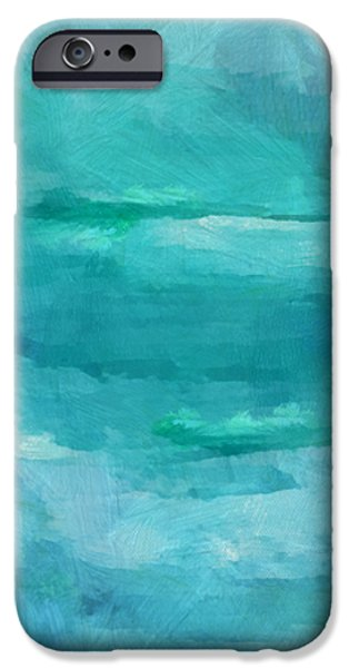 Abstract Seascape iPhone Cases - Ocean 6 iPhone Case by Angelina Vick