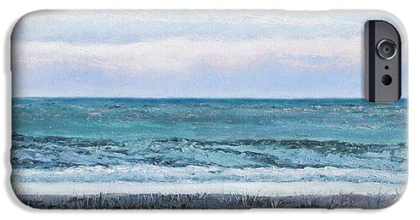 Ocean Art. Beach Decor iPhone Cases - Ocean at Dusk iPhone Case by Jan Matson