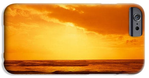 Ocean Sunset iPhone Cases - Ocean At Dusk, Pacific Ocean iPhone Case by Panoramic Images