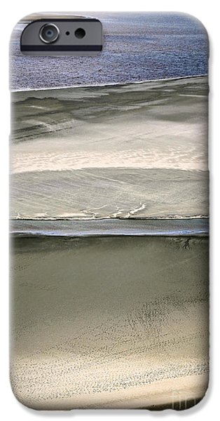 Low Tide iPhone Cases - Ocean at low tide iPhone Case by Elena Elisseeva