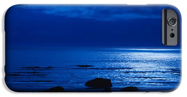 Coos iPhone Cases - Ocean At Night, Bandon State Natural iPhone Case by Panoramic Images