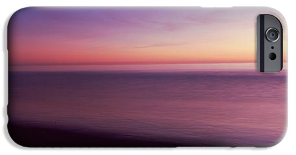 Ocean Sunset iPhone Cases - Ocean At Sunset, Los Angeles County iPhone Case by Panoramic Images