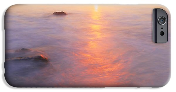 Ocean Sunset iPhone Cases - Ocean At Sunset iPhone Case by Panoramic Images