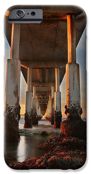 Ocean Beach California Pier iPhone Case by Larry Marshall