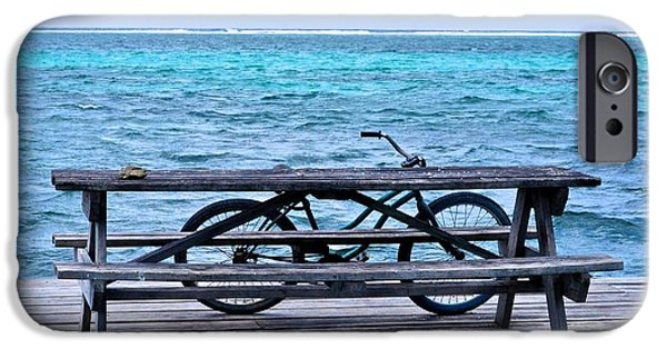 Hallmark Greeting Card iPhone Cases - Ocean Bikes iPhone Case by Kristina Deane