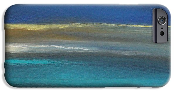 Beige iPhone Cases - Ocean Blue 2 iPhone Case by Linda Woods