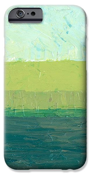 Ocean Blue and Green iPhone Case by Michelle Calkins