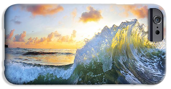 Pillow iPhone Cases - Ocean Bouquet iPhone Case by Sean Davey