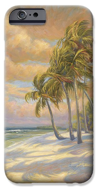 Beach Sunsets iPhone Cases - Ocean Breeze iPhone Case by Lucie Bilodeau