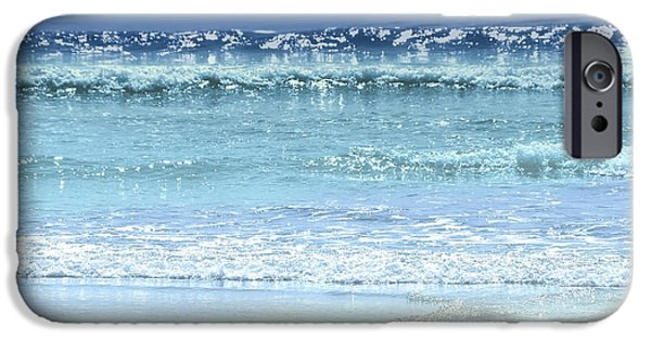 Shine iPhone Cases - Ocean colors abstract iPhone Case by Elena Elisseeva