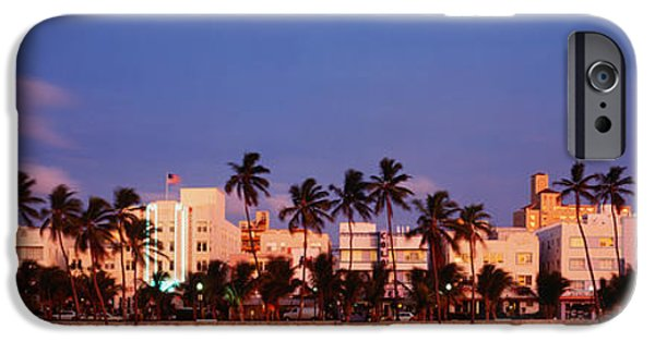 Store Fronts iPhone Cases - Ocean Drive South Beach Miami Beach Fl iPhone Case by Panoramic Images