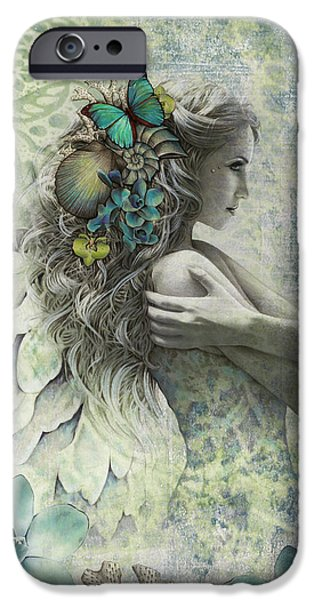 Angel Blues iPhone Cases - Ocean Garden iPhone Case by Jessica Galbreth