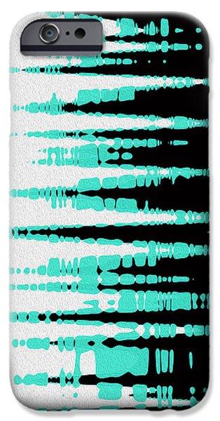 Ocean Gentle Waves abstract digital painting iPhone Case by Georgeta Blanaru