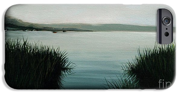 Cape Cod Paintings iPhone Cases - Ocean Grass iPhone Case by Paul Walsh