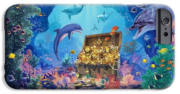 Marine iPhone Cases - Ocean Grotto iPhone Case by Steve Read