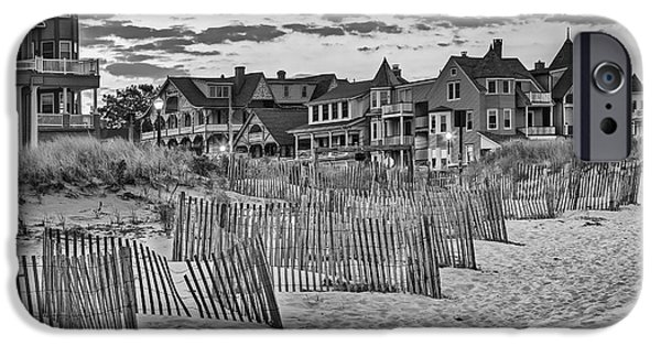 Asbury Park iPhone Cases - Ocean Grove Asbury Park NJ BW iPhone Case by Susan Candelario