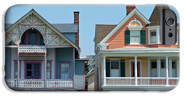 Nineteenth iPhone Cases - Ocean Grove Gingerbread Homes iPhone Case by Anna Lisa Yoder