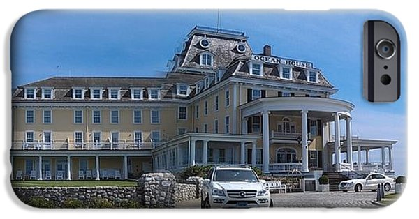 Nineteenth iPhone Cases - Ocean House Pano - Rhode Island iPhone Case by Anna Lisa Yoder