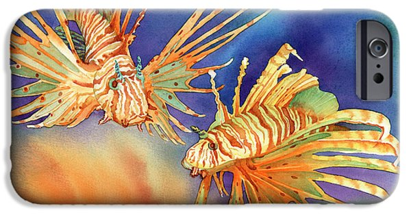 Ocean iPhone Cases - Ocean Lions iPhone Case by Tracy L Teeter