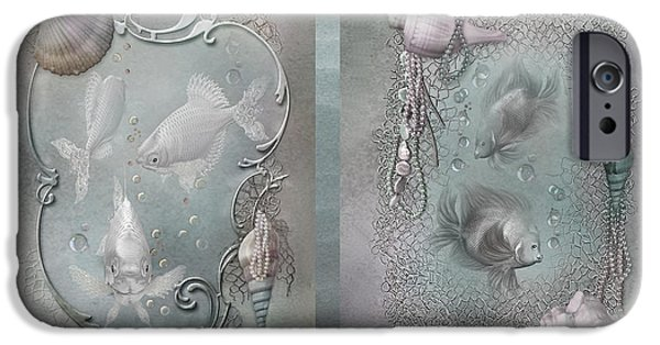 Bathroom Prints iPhone Cases - Ocean Moods iPhone Case by Carol Cavalaris