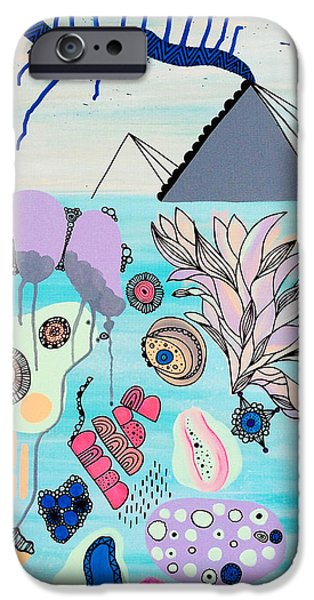 Abstract Seascape iPhone Cases - Ocean Parade iPhone Case by Susan Claire