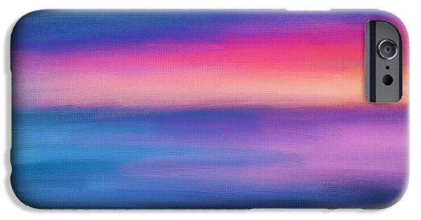 Abstract Seascape iPhone Cases - Ocean Rises iPhone Case by Lourry Legarde