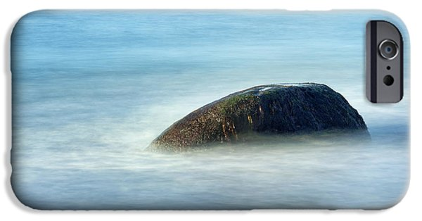 Steadfast iPhone Cases - Ocean Rock iPhone Case by John Greim