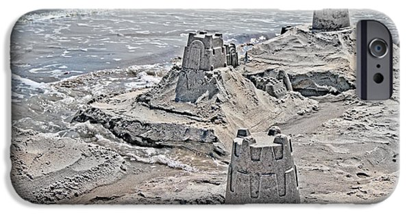 Sand Castles Photographs iPhone Cases - Ocean Sandcastles iPhone Case by Betsy A  Cutler