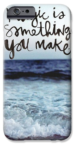 Words Pyrography iPhone Cases - Ocean iPhone Case by Shop Caribbean