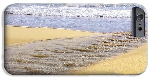 Creek iPhone Cases - Ocean shore iPhone Case by Elena Elisseeva