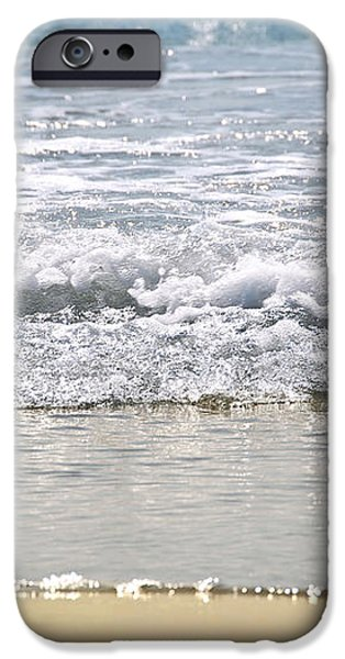 Ocean shore with sparkling waves iPhone Case by Elena Elisseeva