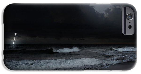Storm Clouds Cape Cod iPhone Cases - Ocean Storm iPhone Case by Bill  Wakeley