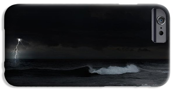 Storm Clouds Cape Cod iPhone Cases - Ocean Storm Square iPhone Case by Bill  Wakeley