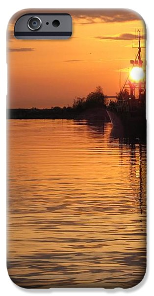 Ocean Sunset 3rd iPhone Case by Shirley Sirois