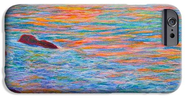 Ocean Sunset Pastels iPhone Cases - Ocean Sunset iPhone Case by Kendall Kessler