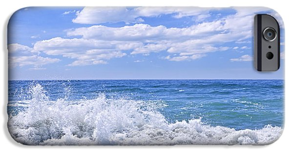 Landscape. Scenic iPhone Cases - Ocean surf iPhone Case by Elena Elisseeva