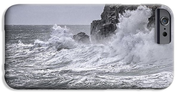 Quoddy iPhone Cases - Ocean Surge at Gullivers iPhone Case by Marty Saccone
