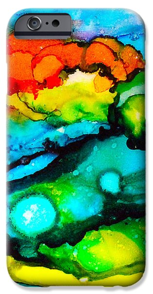 Ocean Tempest Tile iPhone Case by Alene Sirott-Cope