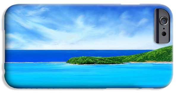 Turquois Water iPhone Cases - Ocean tropical island iPhone Case by Anthony Fishburne