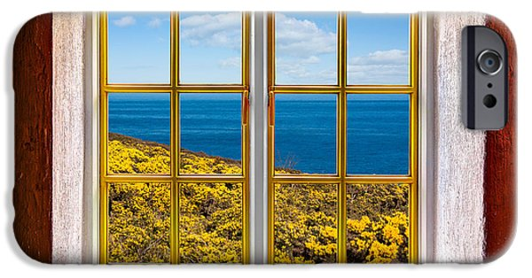 Cabin Window iPhone Cases - Ocean View iPhone Case by Semmick Photo